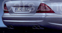 Mercedes W220 S-Class Dual Twin Exhaust